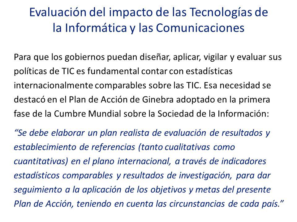 Evaluación del impacto de las Tecnologías de la Informática y las Comunicaciones