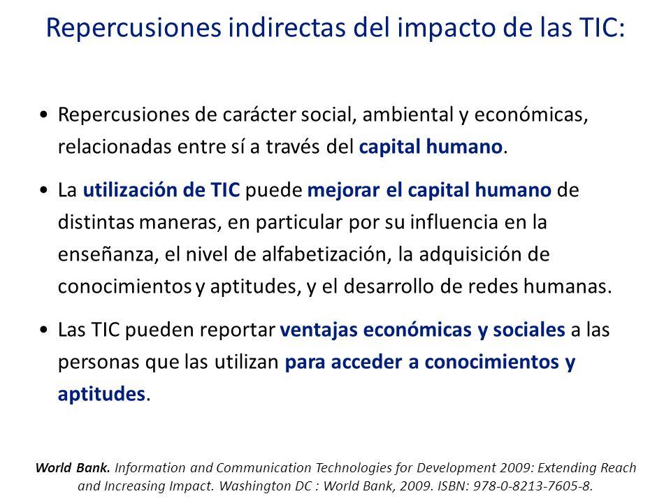 Repercusiones indirectas del impacto de las TIC: