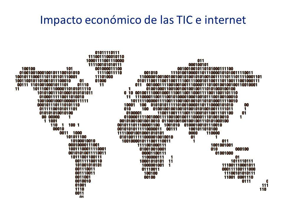 Impacto económico de las TIC e internet