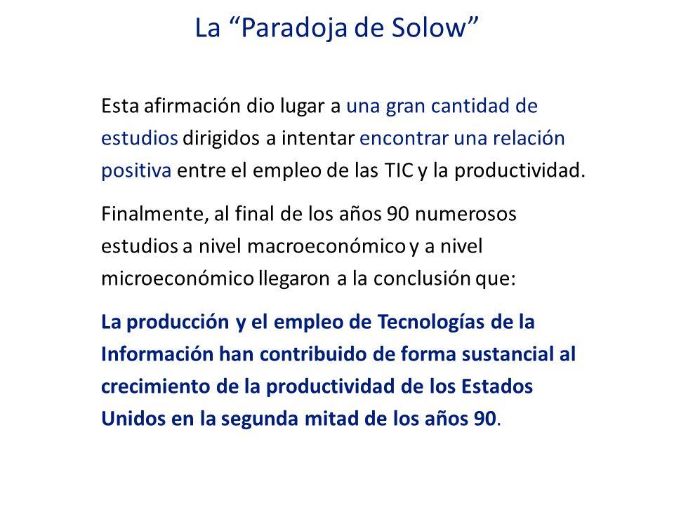 La Paradoja de Solow