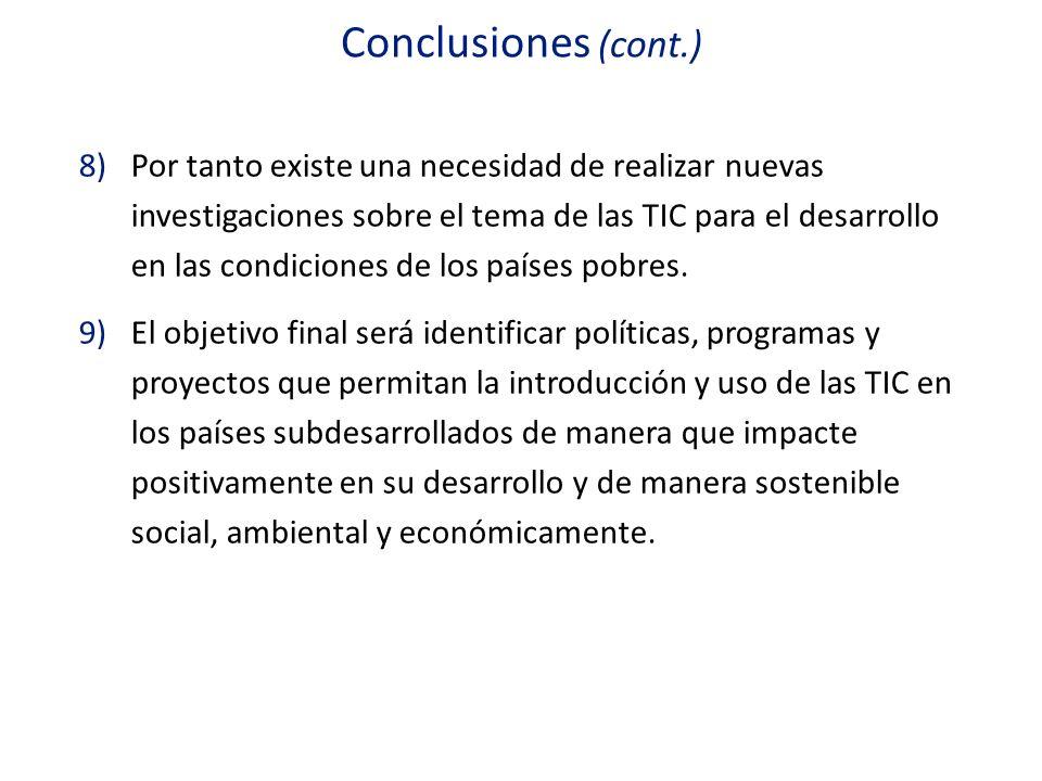 Conclusiones (cont.)