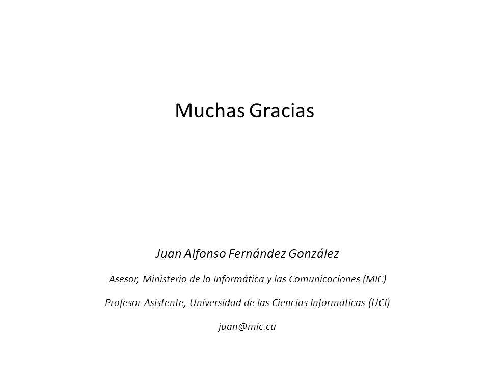 Muchas Gracias Juan Alfonso Fernández González