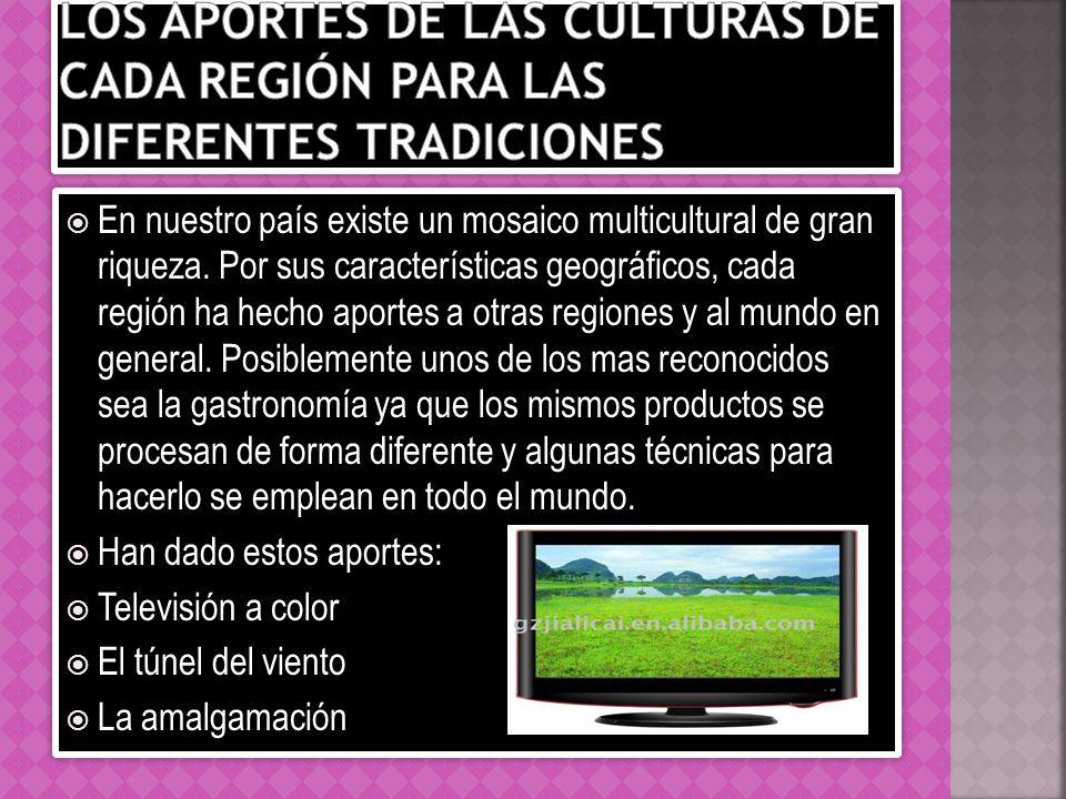 Los aportes de las culturas de cada región para las diferentes tradiciones