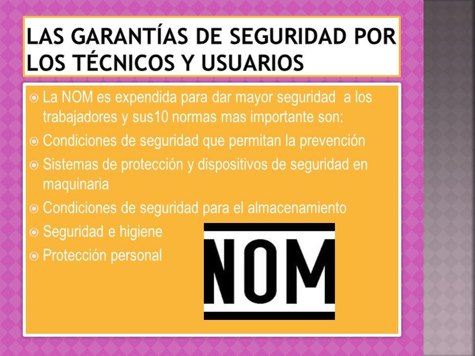 Las garantías de seguridad por los técnicos y usuarios