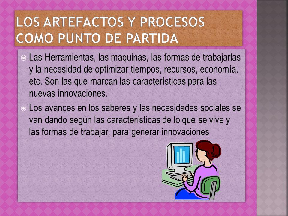 Los artefactos y procesos como punto de partida