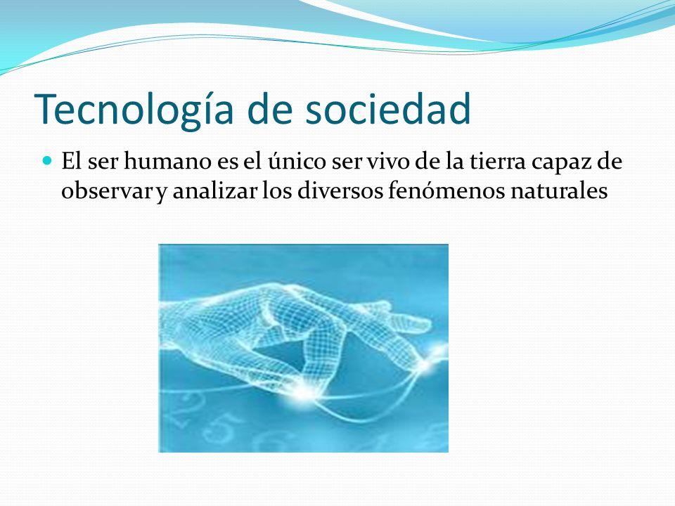 Tecnología de sociedad