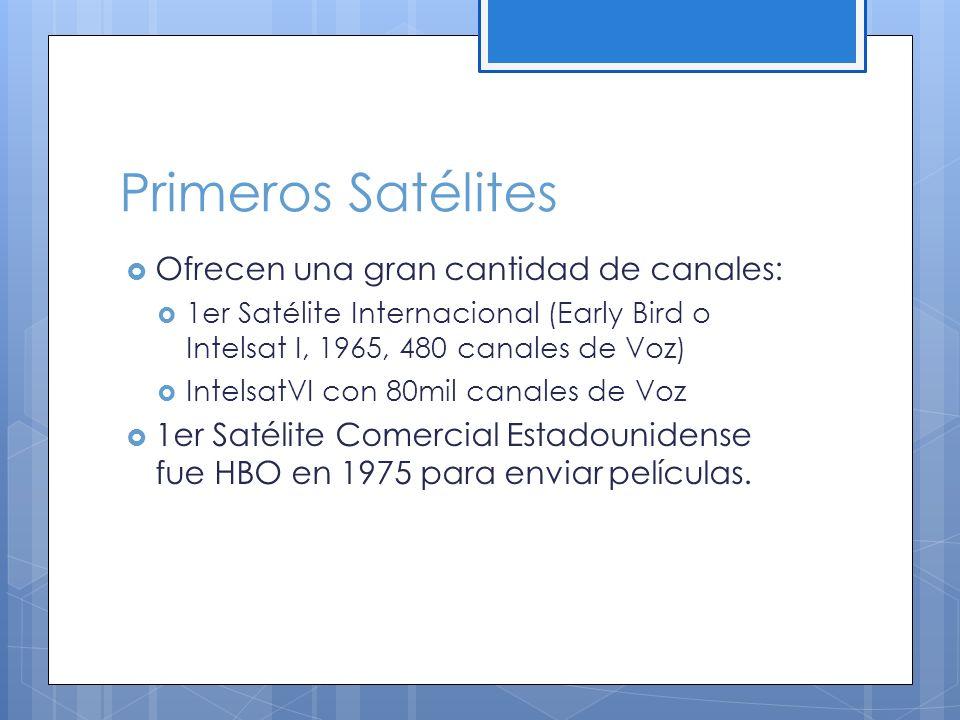 Primeros Satélites Ofrecen una gran cantidad de canales: