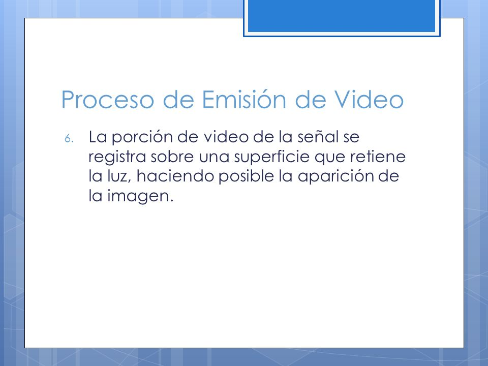 Proceso de Emisión de Video