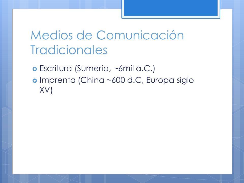 Medios de Comunicación Tradicionales
