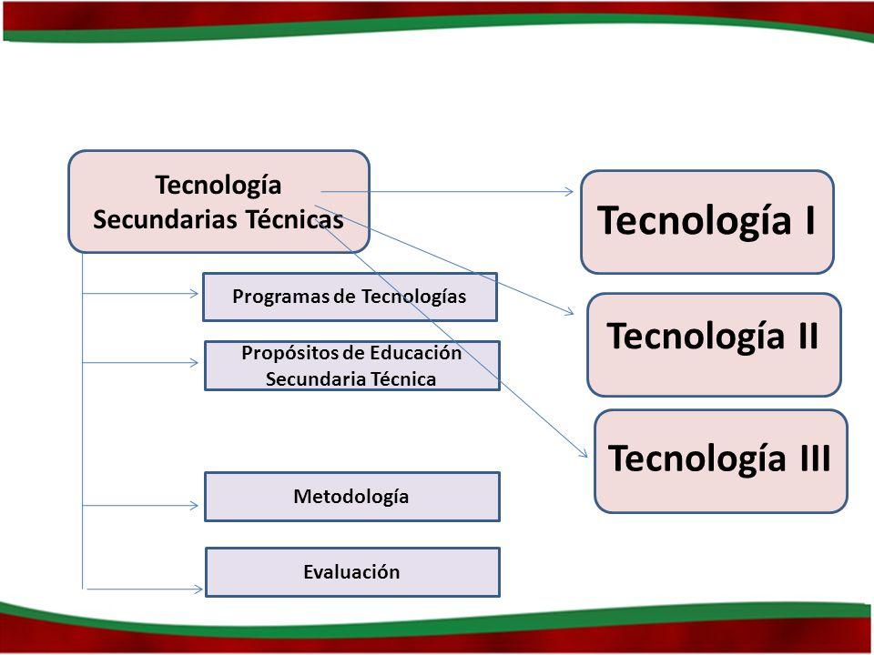 Tecnología Secundarias Técnicas