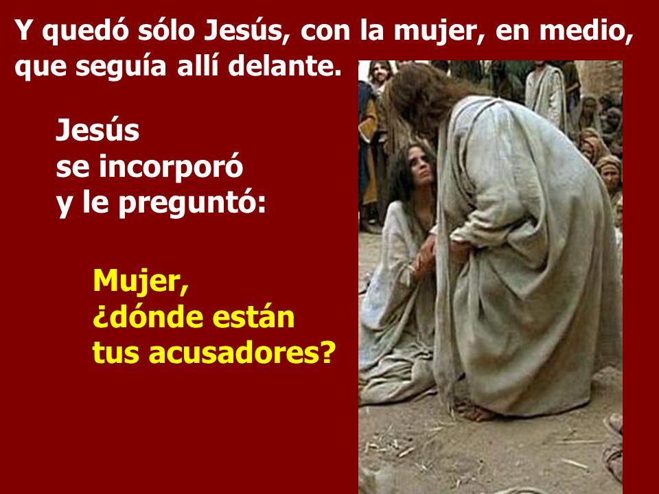 Jesús se incorporó y le preguntó: