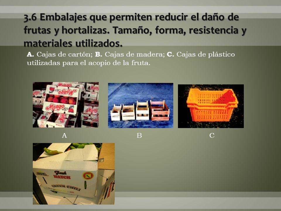 3. 6 Embalajes que permiten reducir el daño de frutas y hortalizas