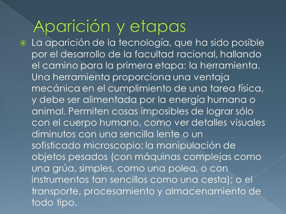 Aparición y etapas