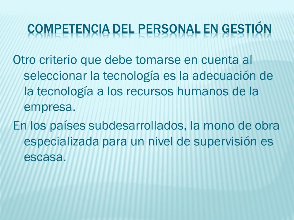 Competencia del personal en gestión