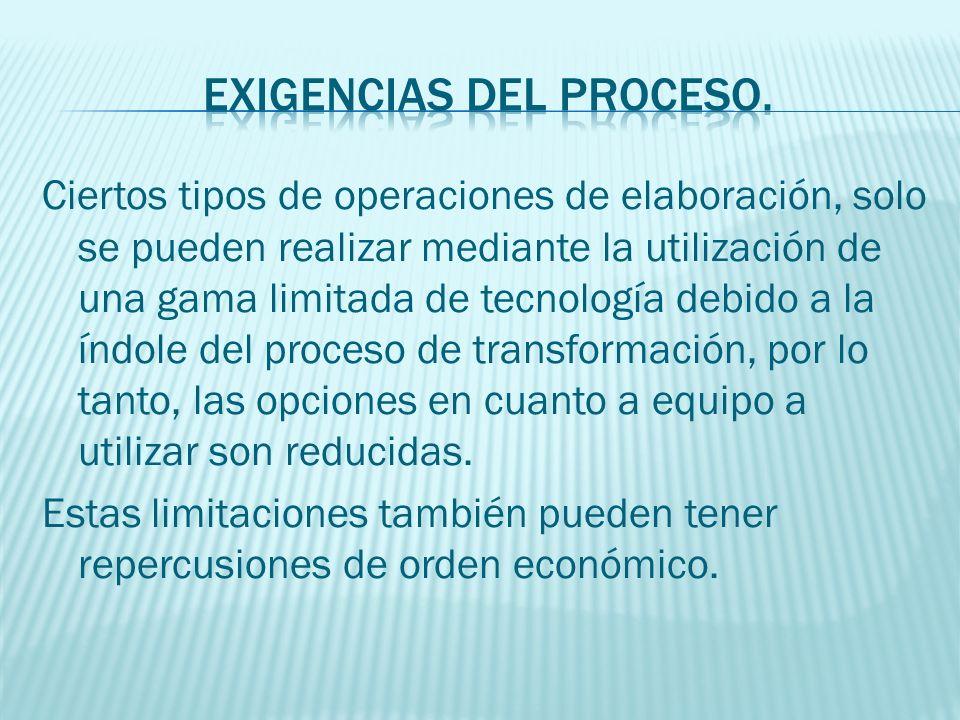 EXIGENCIAS DEL PROCESO.
