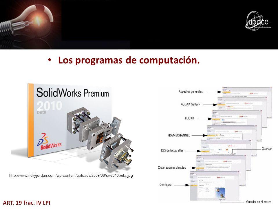 Los programas de computación.