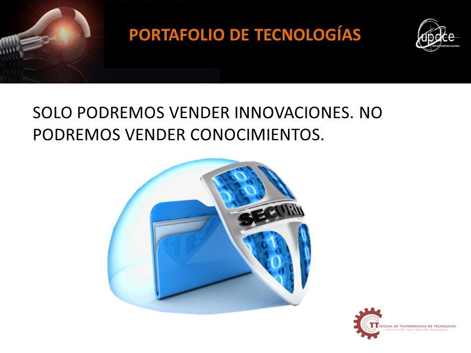 PORTAFOLIO DE TECNOLOGÍAS