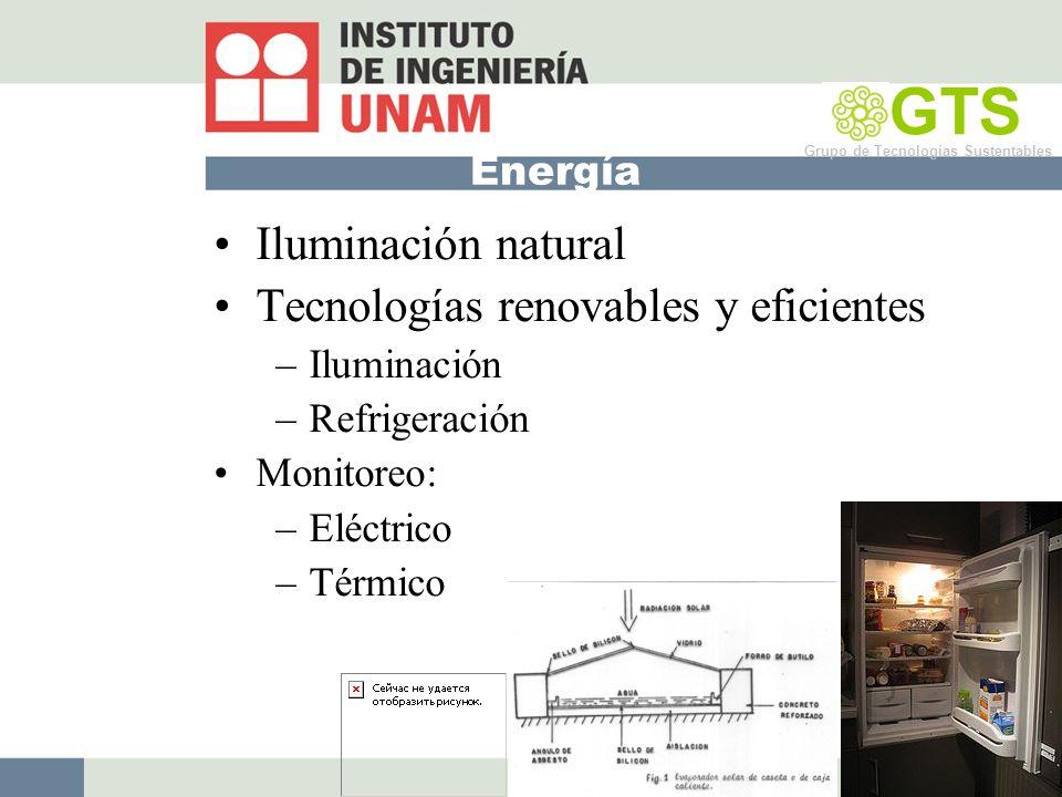 GTS Iluminación natural Tecnologías renovables y eficientes Energía