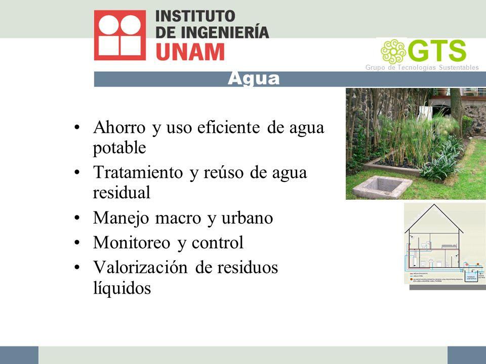 GTS Agua Ahorro y uso eficiente de agua potable