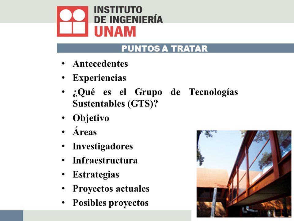¿Qué es el Grupo de Tecnologías Sustentables (GTS) Objetivo Áreas