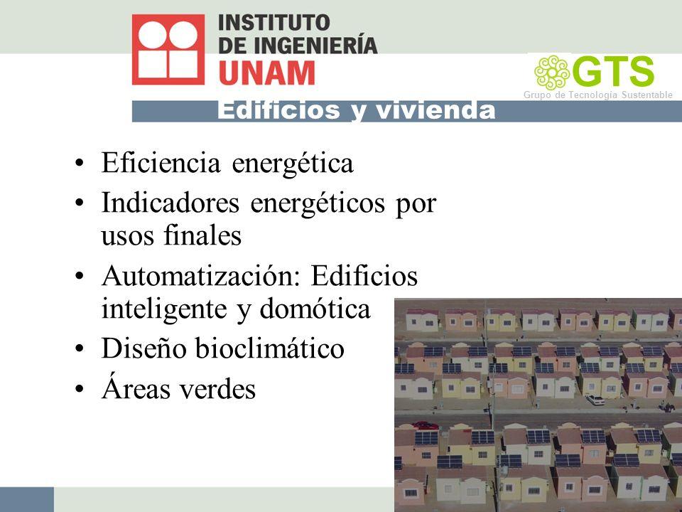 GTS Eficiencia energética Indicadores energéticos por usos finales
