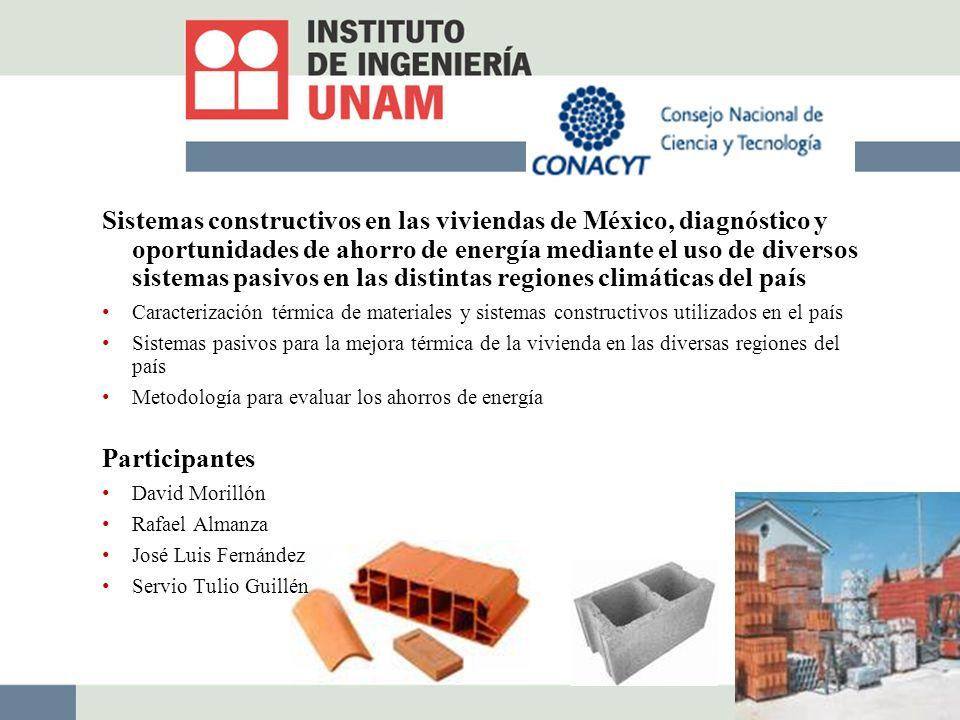 Sistemas constructivos en las viviendas de México, diagnóstico y oportunidades de ahorro de energía mediante el uso de diversos sistemas pasivos en las distintas regiones climáticas del país