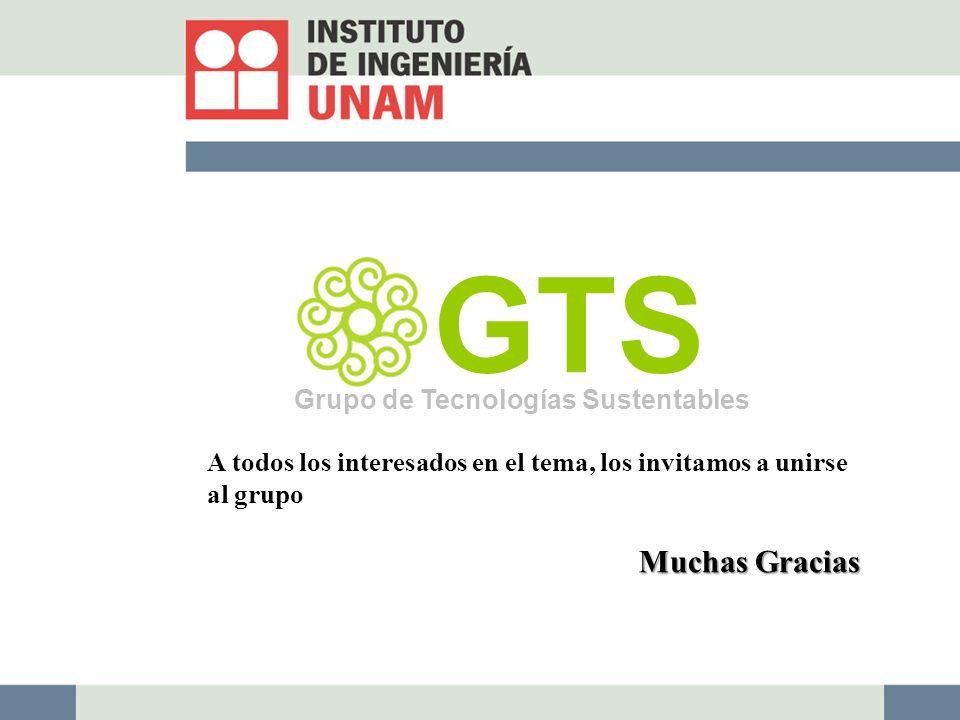 GTS Muchas Gracias Grupo de Tecnologías Sustentables
