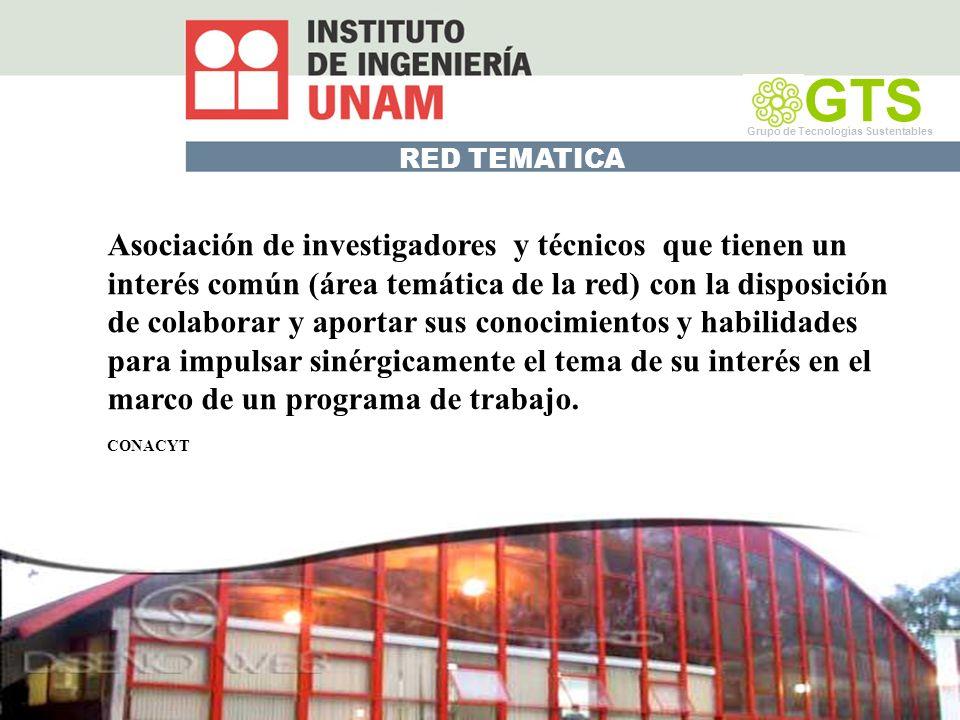 GTS Grupo de Tecnologías Sustentables. RED TEMATICA.