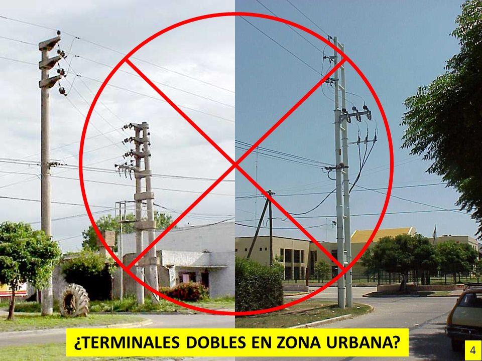 ¿TerminalES DOBLES EN ZONA UrbanA
