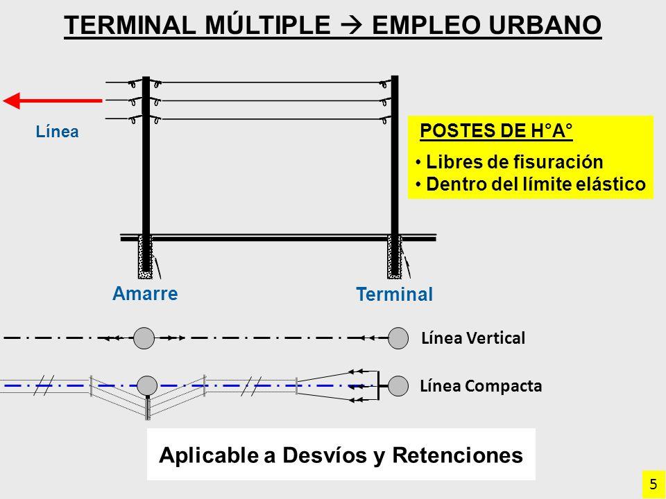 Terminal Múltiple  empleo Urbano Aplicable a Desvíos y Retenciones