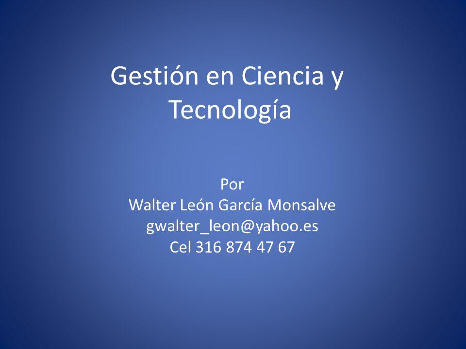 Gestión en Ciencia y Tecnología