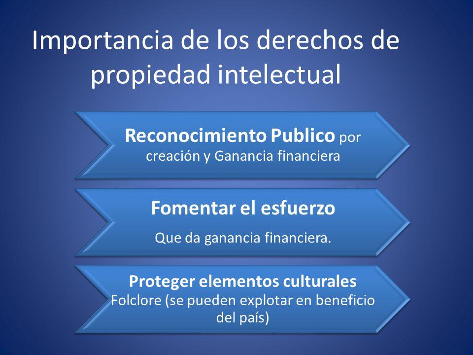 Importancia de los derechos de propiedad intelectual