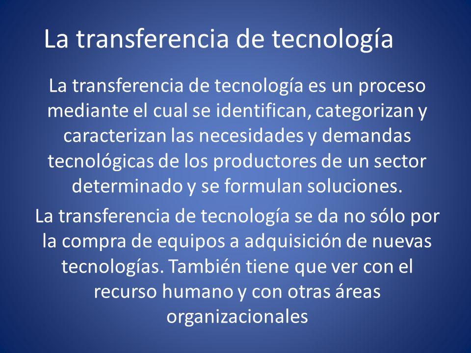 La transferencia de tecnología