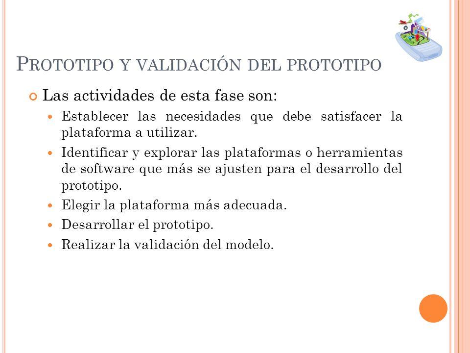 Prototipo y validación del prototipo