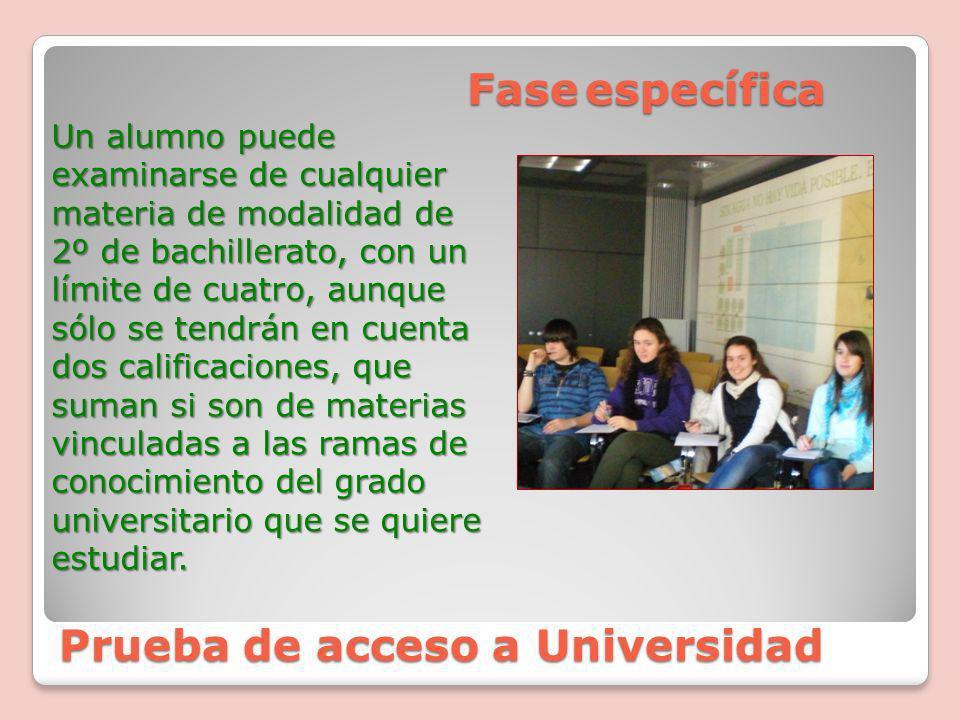 Prueba de acceso a Universidad