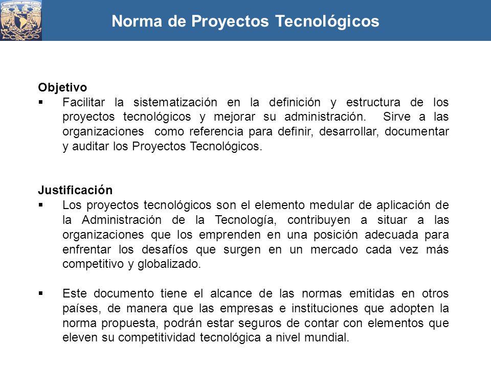 Norma de Proyectos Tecnológicos