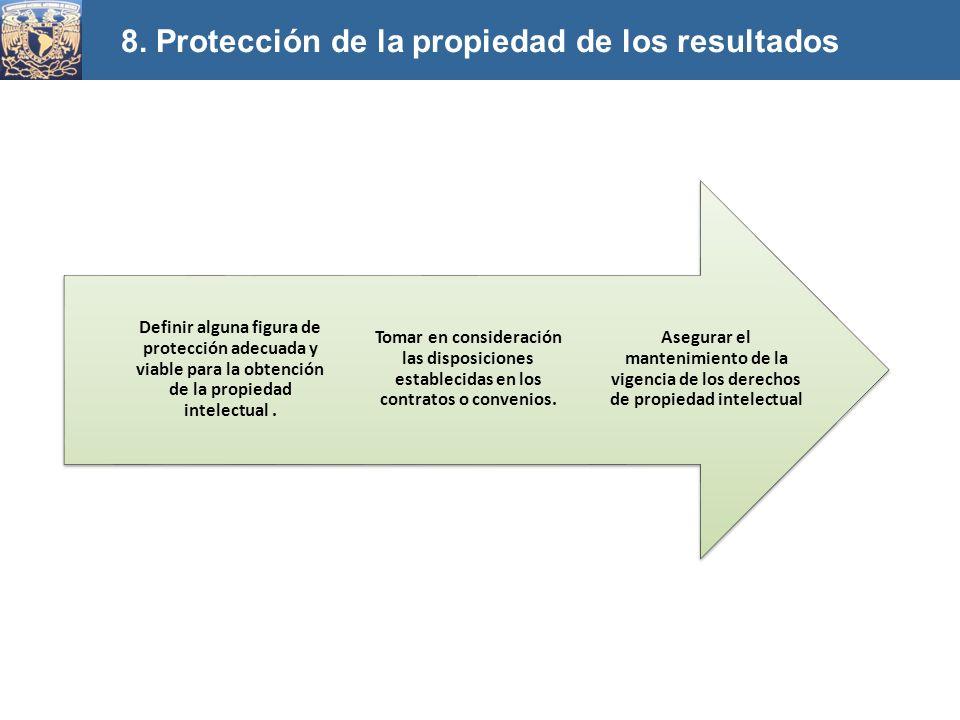 8. Protección de la propiedad de los resultados