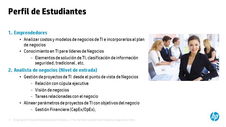 Perfil de Estudiantes Emprendedores