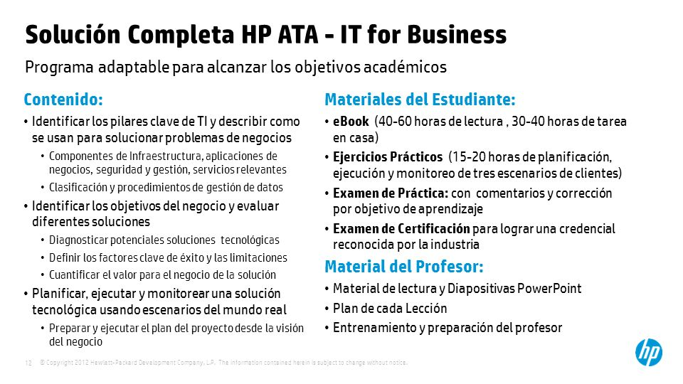 Solución Completa HP ATA - IT for Business