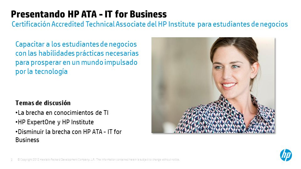 Presentando HP ATA - IT for Business