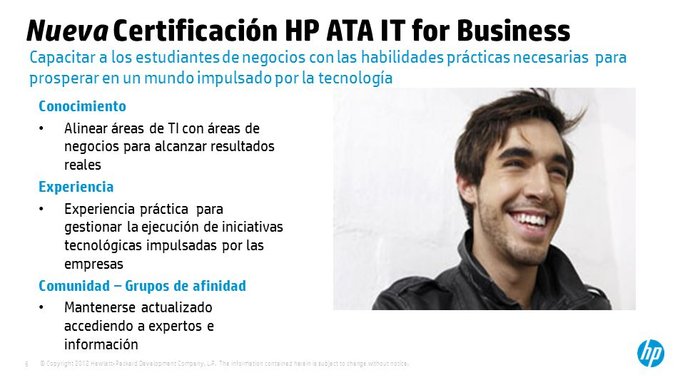 Nueva Certificación HP ATA IT for Business