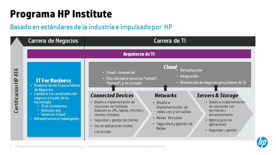 Basado en estándares de la industria e impulsado por HP