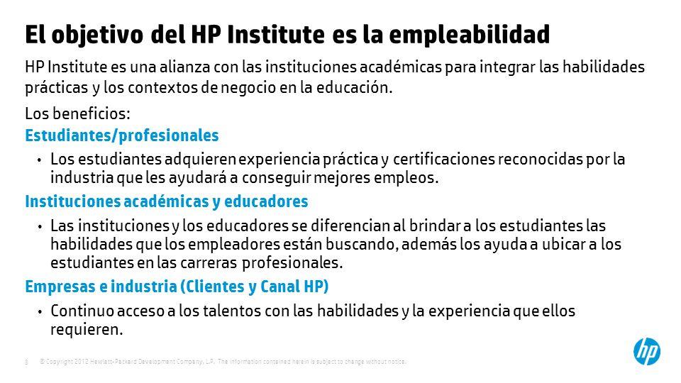 El objetivo del HP Institute es la empleabilidad