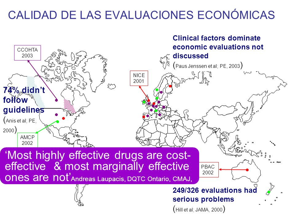 CALIDAD DE LAS EVALUACIONES ECONÓMICAS
