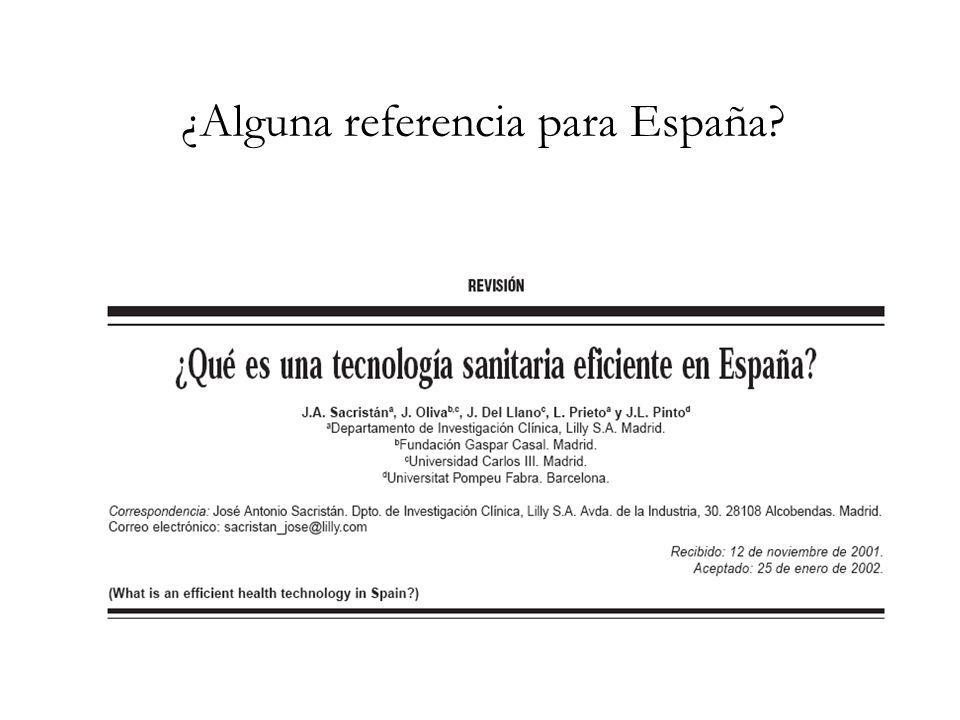 ¿Alguna referencia para España