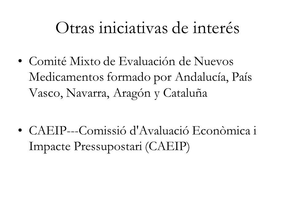 Otras iniciativas de interés