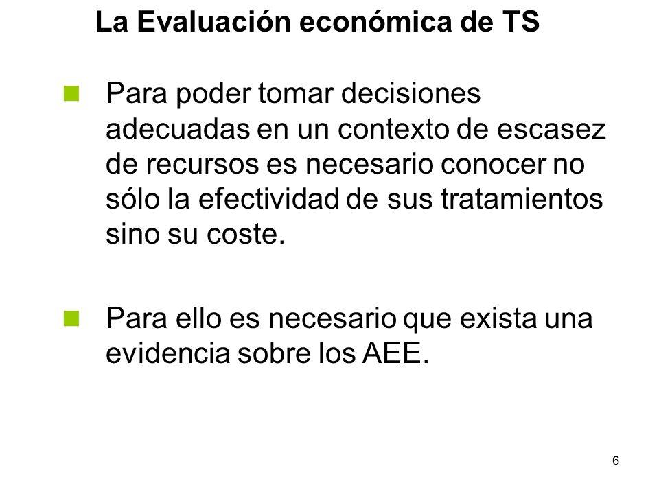 La Evaluación económica de TS