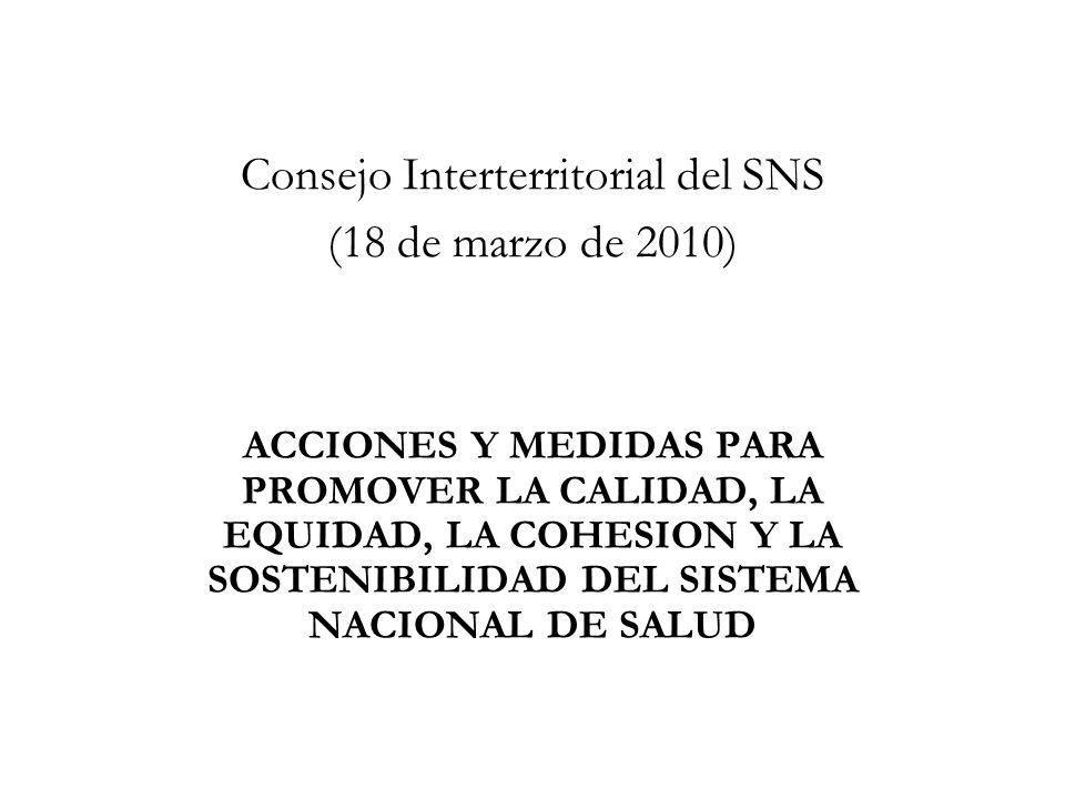 Consejo Interterritorial del SNS (18 de marzo de 2010)