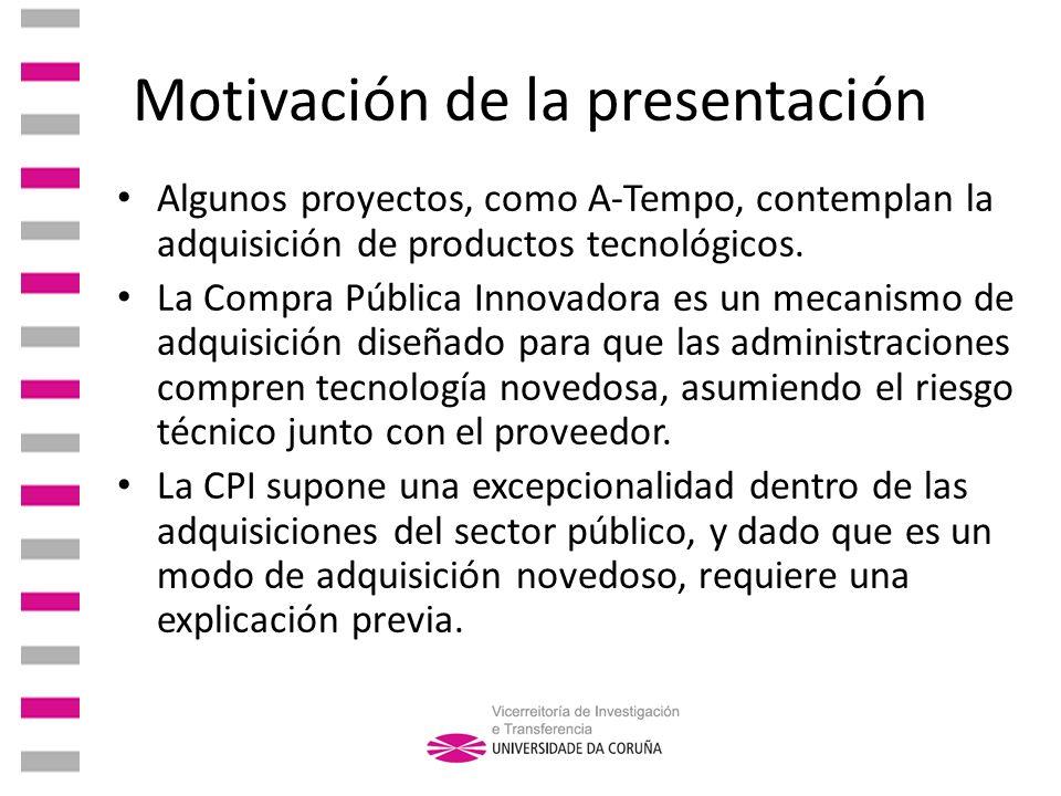 Motivación de la presentación