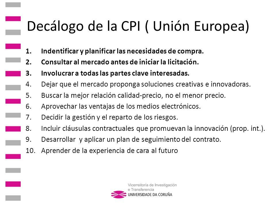Decálogo de la CPI ( Unión Europea)